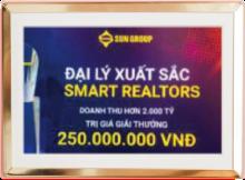 """SmartRealtors & Partners vinh dự được nhận danh hiệu """"Đại lý xuất sắc năm 2017"""" từ chủ đầu tư Sun Group."""