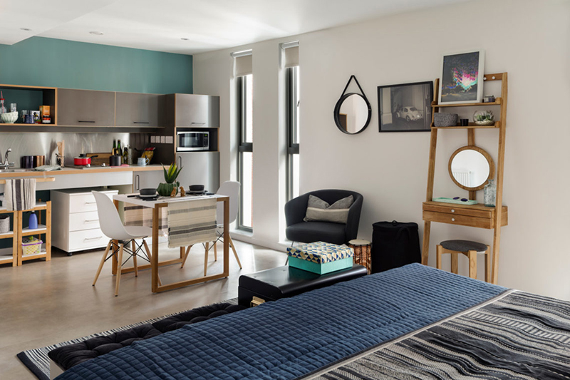 Với đặc tính là sự nhỏ gọn và đơn giản, căn hộ dạng này được phát triển nhằm hướng đến các đối tượng sống độc thân hoặc những đôi vợ chồng mới cưới nhưng chưa có con.