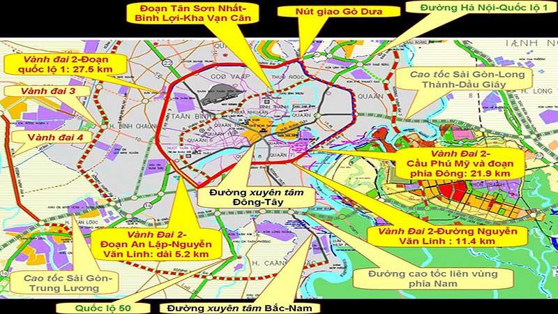 Tiến độ đường vành đai 2 Hồ Chí Minh năm 2021