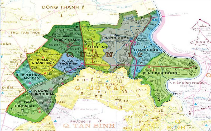 Bản đồ quận 12.