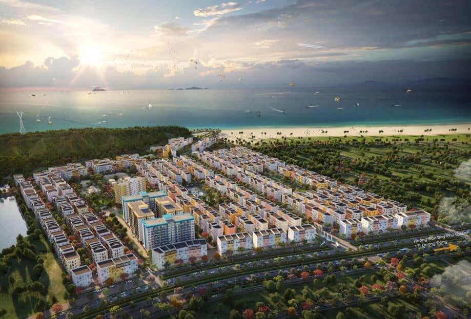 Phối cảnh tổng thể đô thị đảo 35ha Sun Grand City New An Thoi