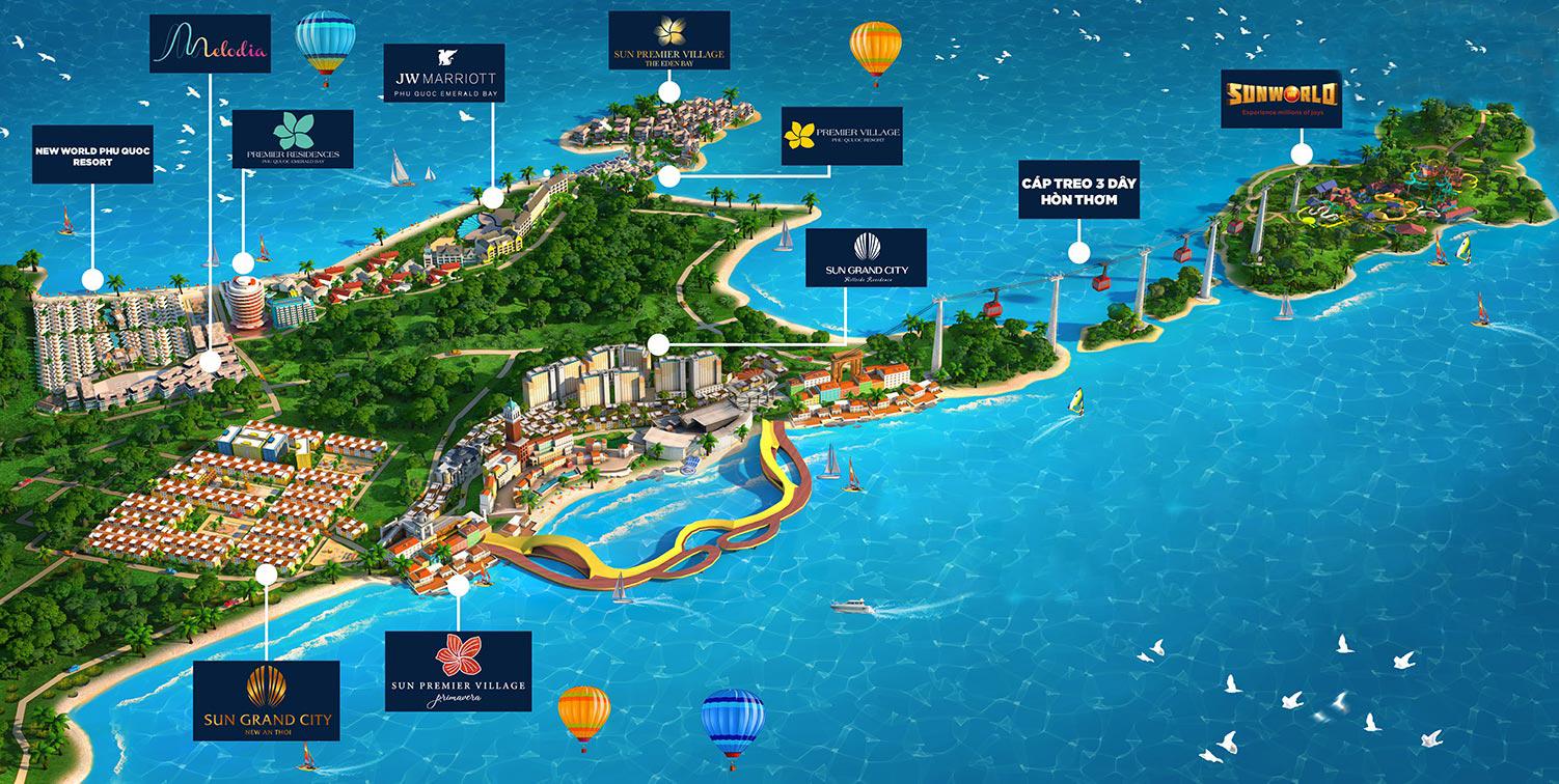 Sun Group – Các dự án giúp du lịch Nam Phú Quốc đột phá