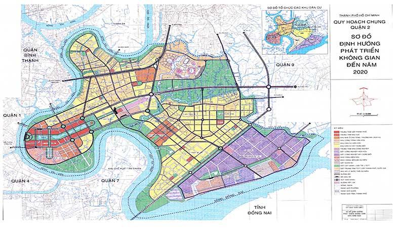 Bản đồ quy hoạch quận 2 - thuộc khu Đông Sài Gòn