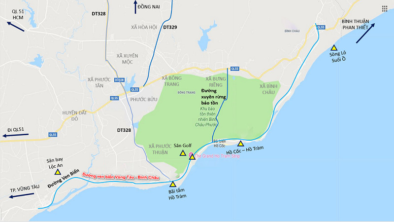 Đường ven biển Vũng Tàu - Bình Châu được nâng cấp mở rộng với số vốn đầu tư hơn 7.000 tỷ đồng