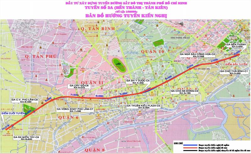 Thông tin về tuyến metro số 3 cụ thể và mới nhất [2021]