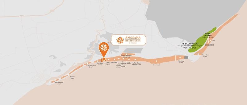 Vị trí biệt thự nghỉ dưỡng Angsana Residences ở đâu?