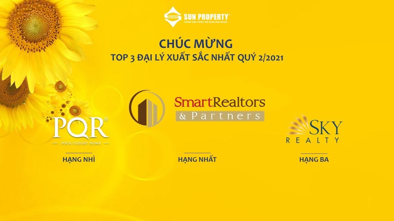 SmartRealtors tiếp tục là đại lý xuất sắc nhất Quý 2/2021 của Sun Group