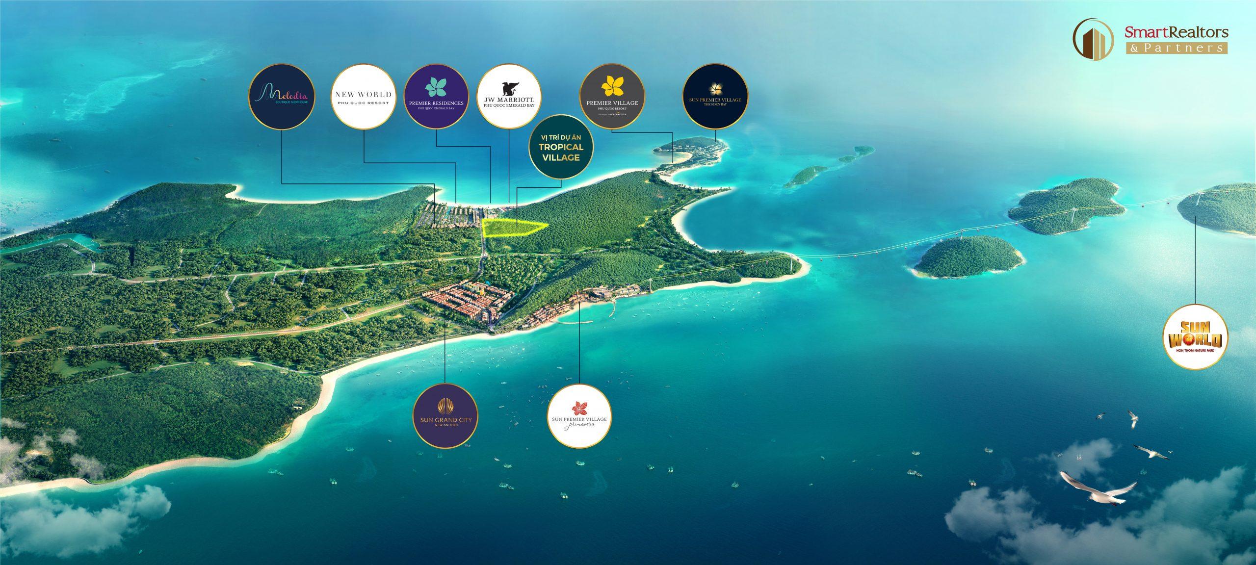 Dự án Sun Tropical Village bãi Kem sở hữu vị trí độc tôn hoàn hảo thu hút nhiều nhà đầu tư trong và ngoài nước