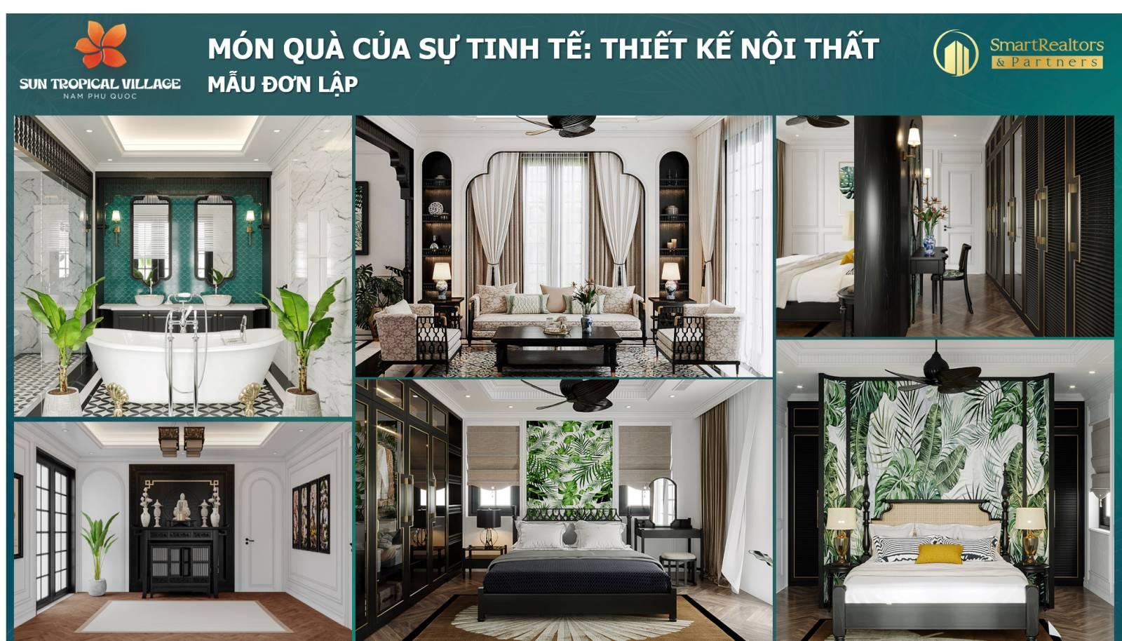 Thiết kế nội thất dự án Sun Tropical Phú Quốc