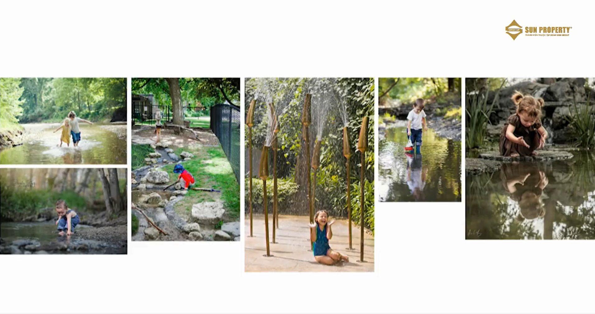 """Sân chơi """"thiên nhiên"""" dành cho các bé ở công viên Forest Creek tại biệt thự làng nhiệt đới"""