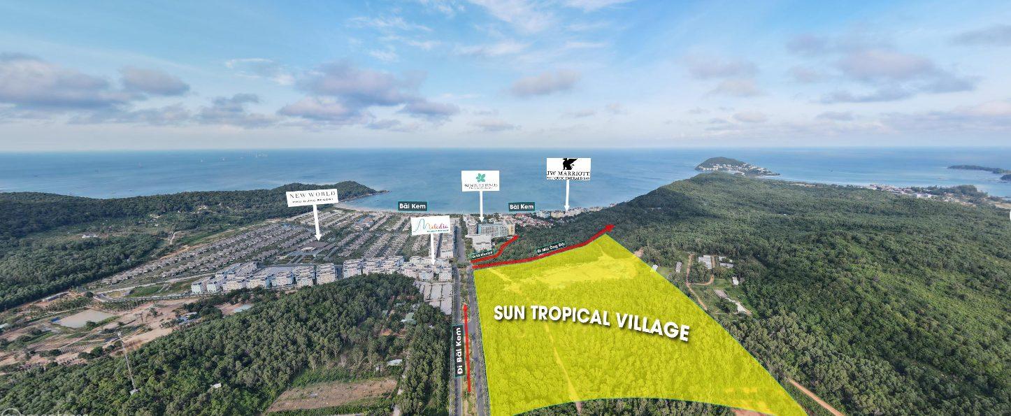 Vị trí dự án Sun Tropical Village