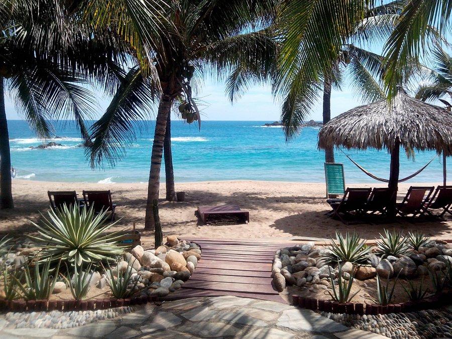 Bãi biển riêng tư của Punta Placer Bungalows giúp du khách dễ dàng giải tỏa căng thẳng