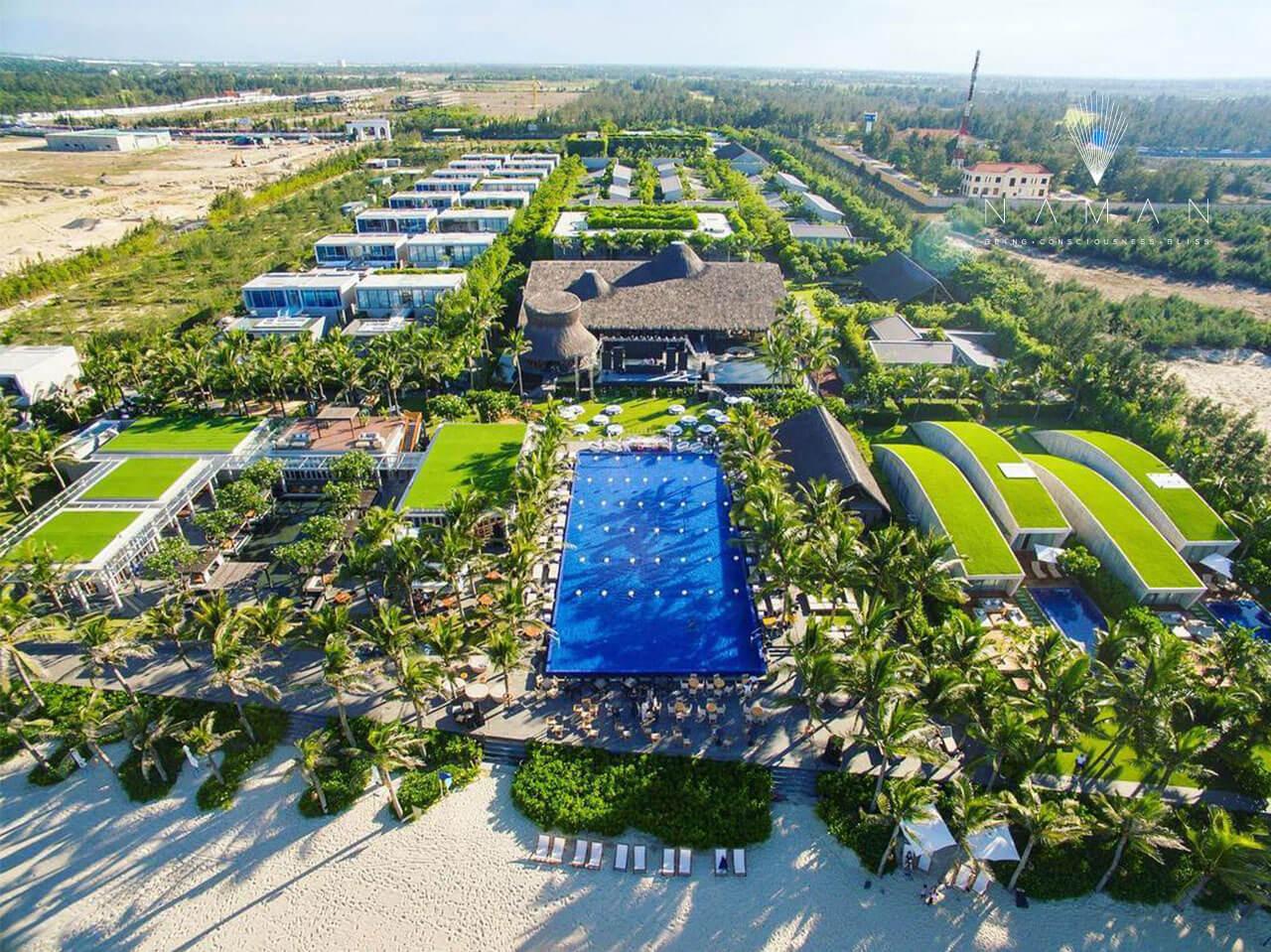 Naman Retreat Resort – dự án nổi bật được thiết kế đơn vị thiết kế cảnh quan Tropical Village PQ– Land Sculptor Studio