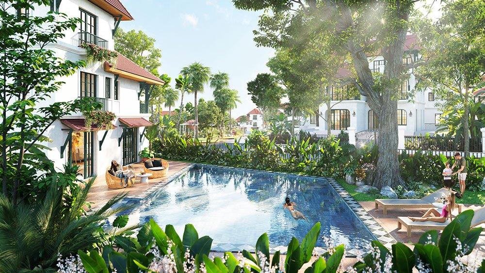 Thiết kế nhiệt đới làm khu biệt thự Sun Tropical Village thêm sức sống và tươi mát